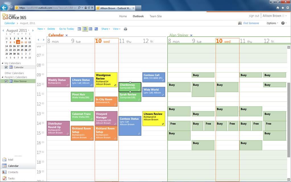 Exchange Online gemeinsame Kalender