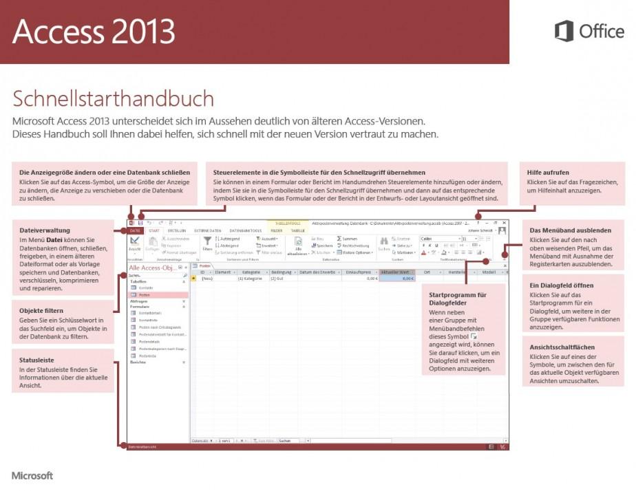 Schnellstarthandbuch Access 2013