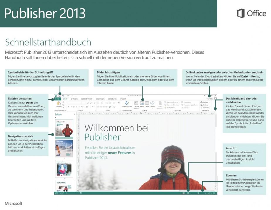 Schnellstarthandbuch Publisher 2013