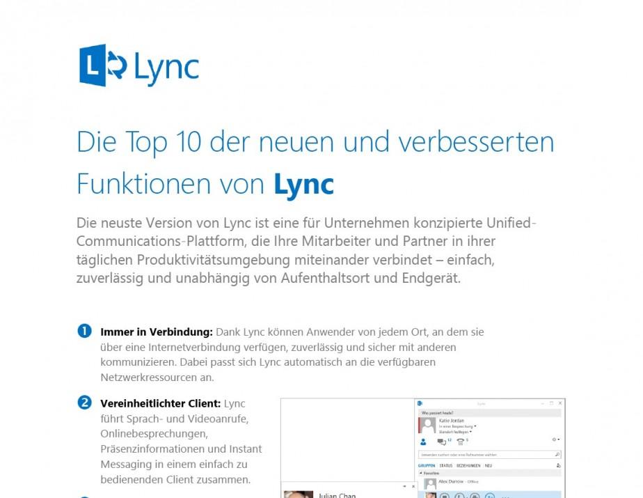 Top 10 Funktionen von Lync