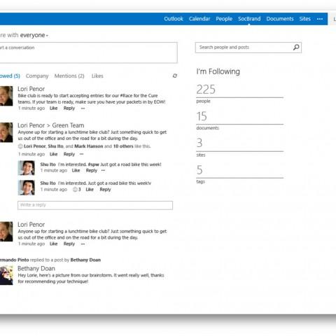 SharePoint Online Soziale Netzwerke